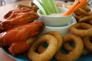 onion rings and wings